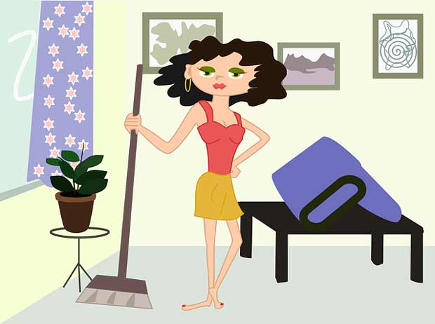 izbeći kućne poslove