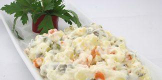 ruska salata, salata, šunka, recept, pixabay