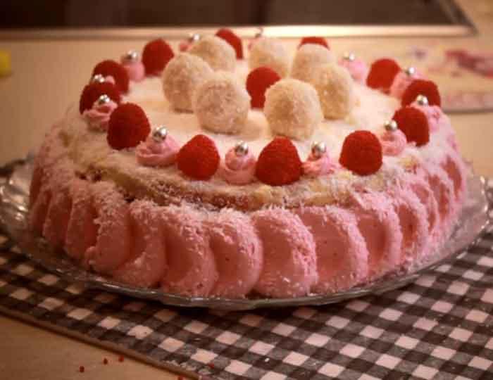 recept rafaelo torta sa malinama