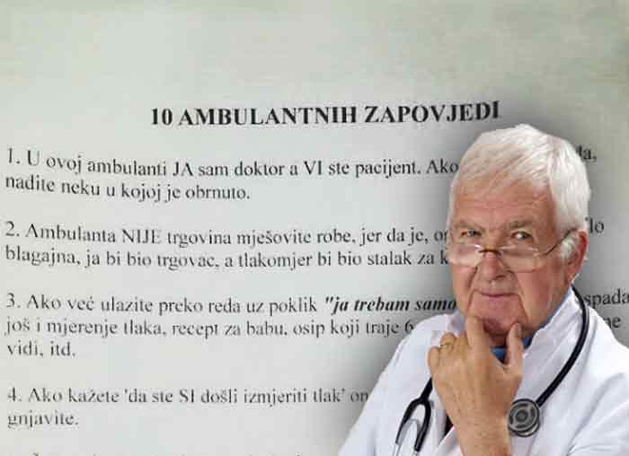 Obaveštenje na vratima ambulante nasmejalo je neke pacijente, a neke naljutilo: 10 AMBULANTNIH ZAPOVESTI