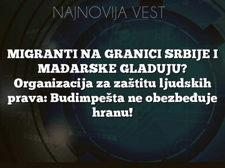 MIGRANTI NA GRANICI SRBIJE I MAĐARSKE GLADUJU? Organizacija za zaštitu ljudskih prava: Budimpešta ne obezbeđuje hranu!