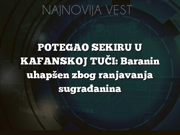 POTEGAO SEKIRU U KAFANSKOJ TUČI: Baranin uhapšen zbog ranjavanja sugrađanina